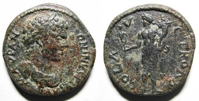 Ancient Coins - CARACALLA. PROVINCIAL AE. TROAS. VF