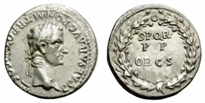 Ancient Coins - CALIGULA. SILVER DENARIUS. LUGDUNUM. RARE LAUREATE REVERSE.
