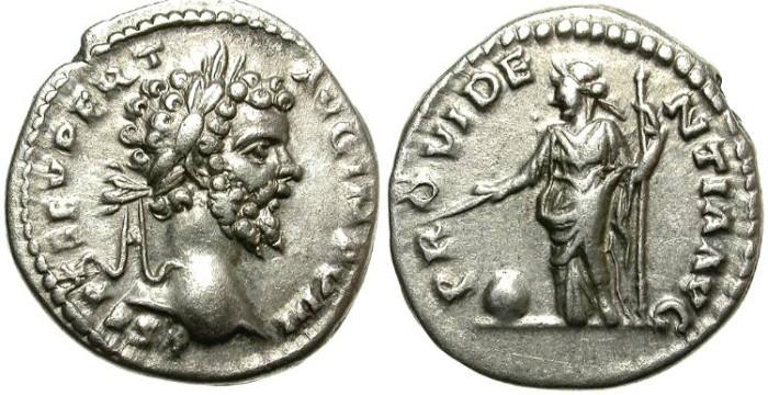 Ancient Coins - SEPTIMIUS SEVERUS. SILVER DENARIUS. VERY NICE PORTRAIT