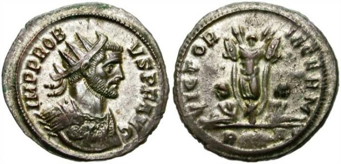 Ancient Coins - PROBUS. BILLON ANTONINIANUS. ROME MINT. MANY ORIGINAL SILVERING.