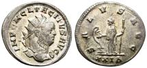 Ancient Coins - TACITUS. AE ANTONINIANUS. SALUS ON REVERSE. MOST ORIGINAL SILVERING STILL REMAINING. SO NICE !