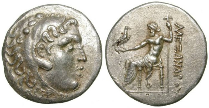 Ancient Coins - ALEXANDER THE GREAT. FOUREE TETRADRACHM. RARE AND ATTRACTIVE ANCIENT COUNTERFEIT