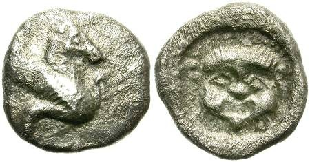 Ancient Coins - TRIHEMIOBOL. UNDETERMINED ASIA MINOR MINT. POSSIBLY UNPUBLISHED