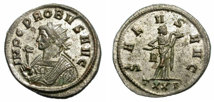 "Ancient Coins - PROBUS. AE ANTONINIAN. FROM THE TICINUM ""EQ-V-ITI"" SERIES. ATTRACTIVE."