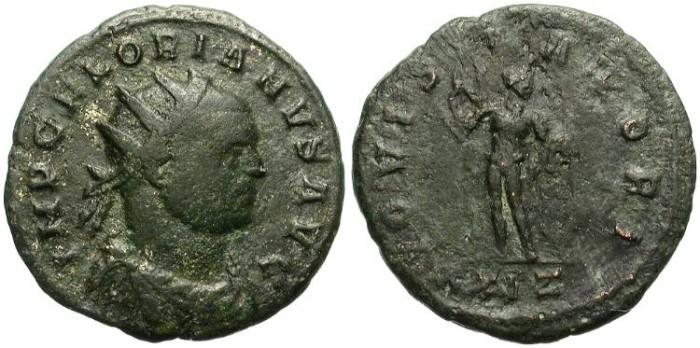 Ancient Coins -   FLORIAN. AD 276, AE ANTONINIANUS. DECENT CONDITION.