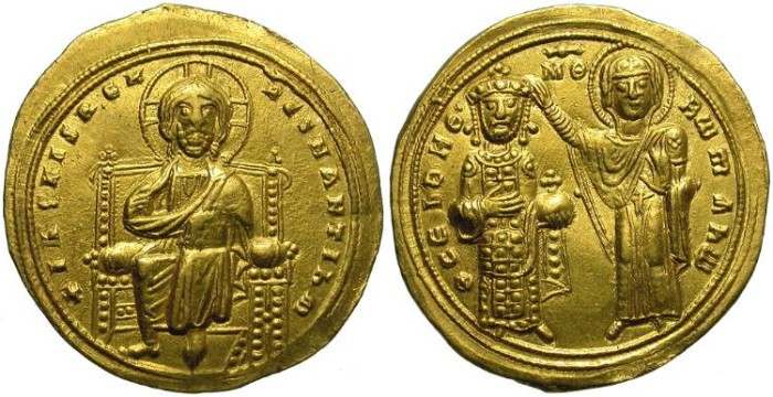 Ancient Coins - BYZANCE. GOLD SOLIDUS. ROMAN III ARGYRUS. BEAUTIFUL COIN