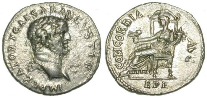Ancient Coins - TITUS. DENAR. EPHESUS. VERY RARE ISSUE !