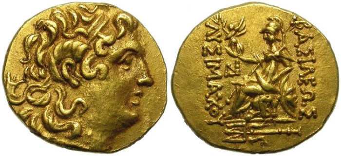 Ancient Coins - LYSIMACHOS. GOLD STATER. BYZANTION MINT. GOOD STYLE