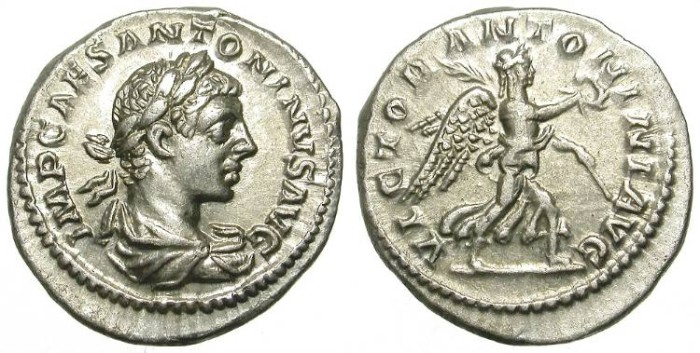 Ancient Coins - ELAGABAL. SILVER DENARIUS. GREAT CONDITION. NICE COIN