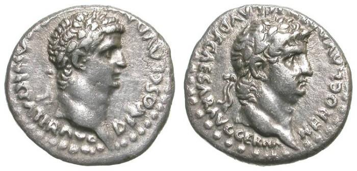 Ancient Coins - CLAUDIUS AND NERO. DRACHM. CAESAREA, CAPPADOCIA. SUCH A BEAUTIFUL COIN