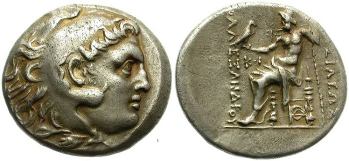 Ancient Coins - ALEXANDER THE GREAT. SILVER TETRADRACHM. SUCH A BEAUTIFUL TONING