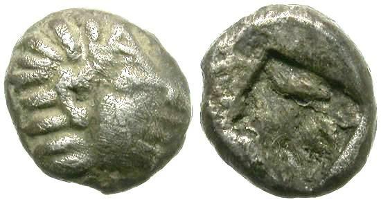 Ancient Coins - KOLOPHON, IONIA.  TETARTEMORION.  INCREDIBLE MINIATURE.