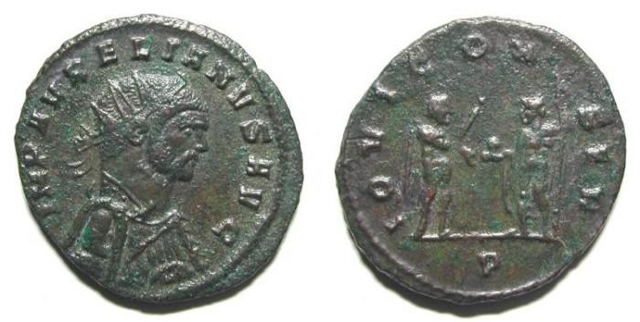 Ancient Coins - AURELIAN. ANTONINIAN. VERY RARE BUST. NICE VF. SO DIFFERENT !