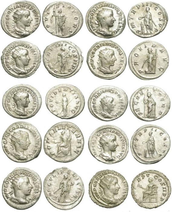 Ancient Coins - LOT OF 10 ROMAN SILVER ANTONINIAN. MID QUALITY BUT VERY AFFORDABLE /1