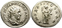Ancient Coins - PHILIP I.  244-249 AD. ANTONINIANUS. GREAT QUALITY. BEAUTIFUL PORTRAIT/1