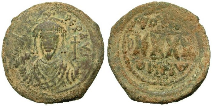 Ancient Coins - PHOCAS. FOLLIS. CURIOUS PIECE. INEXPENSIVE