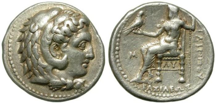 Ancient Coins - PHILIP III AHRRIDAEUS. HALF BROTHER OF ALEXANDER THE GREAT. TETRADRACHM. NICE !