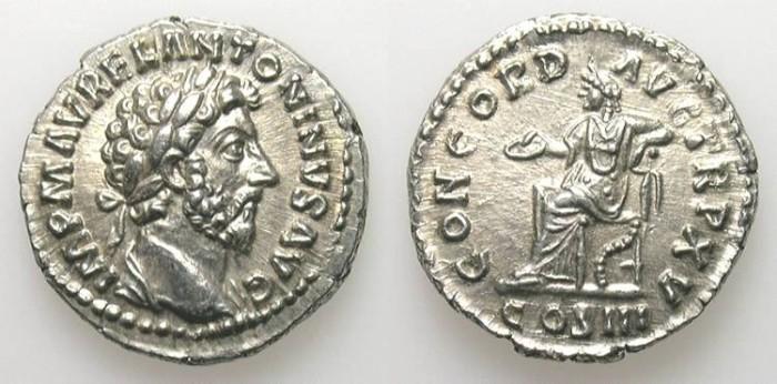 Ancient Coins - MARC AUREL. DENAR as Augustus. UNCIRCULATED. AMAZING QUALITY !