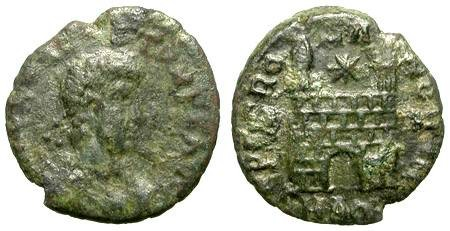Ancient Coins - FLAVIO VICTOR. AE ISSUE. SMALL LITTLE SCARCITY. MISSING IN MANY COLLECTIONS !