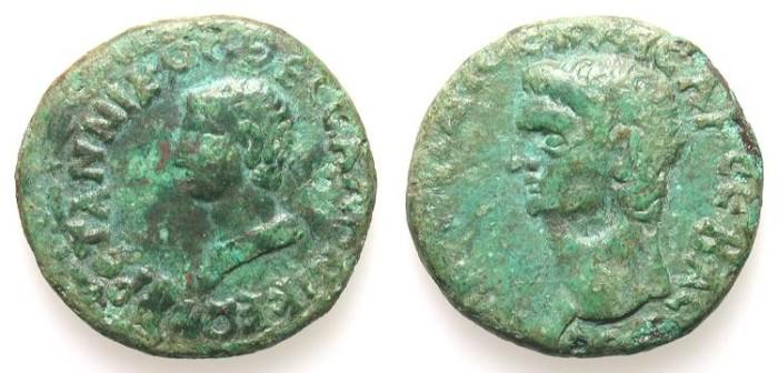 Ancient Coins - BRITANNICUS. PROVINCIAL ISSUE. THESSALONIKA. RARE & ATTRACTIVE PIECE !