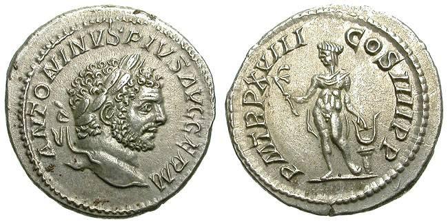 Ancient Coins - CARACALLA: SILVER DENAR. APOLLO ON REVERSE. SUCH A NICE CONDITION