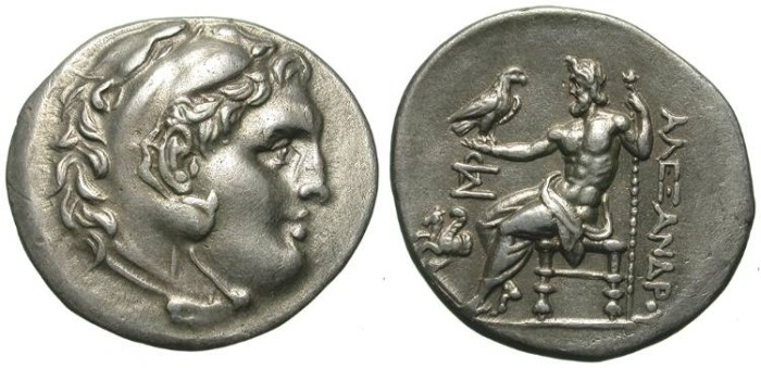 Ancient Coins - ALEXANDER THE GREAT. TETRADRACHM. LAMPSAKOS. EF. BEAUTIFUL