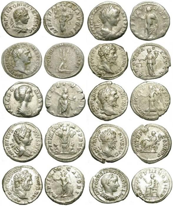 Ancient Coins - ECONOMIC LOT OF 10 ROMAN DENARS /4