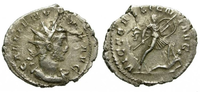 Ancient Coins - GALLIENUS. SILVER ANTONINIANUS. EUROPEAN MINT. VERY RARE REVERSE !