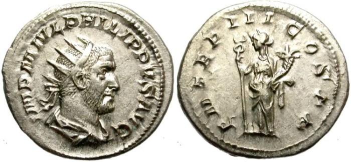 Ancient Coins - PHILIP I.  244-249 AD. ANTONINIANUS. GREAT QUALITY. BEAUTIFUL PORTRAIT/1