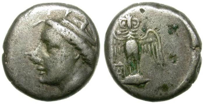 Ancient Coins - AMISOS, PONTOS. SILVER DRACHM. AFFORDABLE