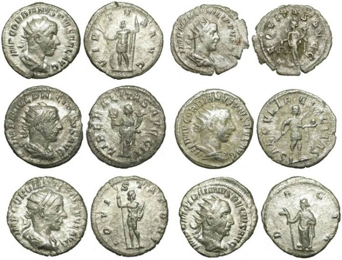 Ancient Coins - LOT OF 6 SILVER ANTONINIANI. LITTLE QUALITY LITTLE PRICE