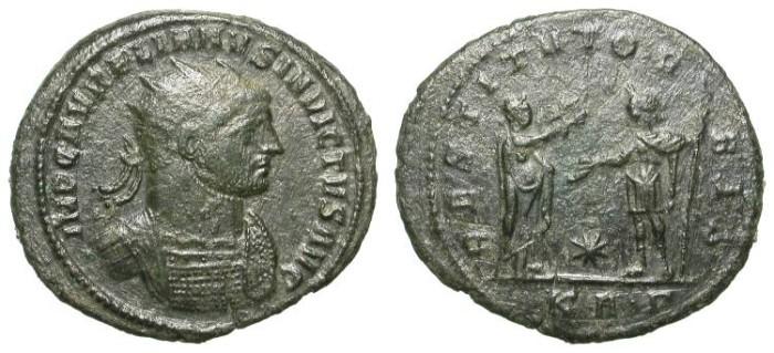 Ancient Coins - AURELIAN. ANTONINIAN. VF. SERDICA. RARE INVICTUS TITULAIRE !