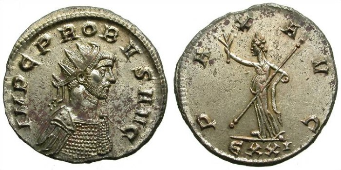 Ancient Coins - PROBUS. AE ANTONINIAN. PRACTICALLY UNCIRCULATED W/ ALMOST FULL SILVERING