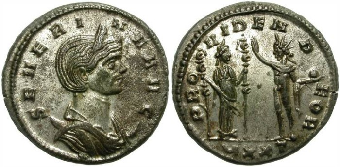 Ancient Coins - SEVERINA.  A.D. 27O - 275.  ANTONINIANUS. TICINUM MINT. GREAT CONDITION. NICE.