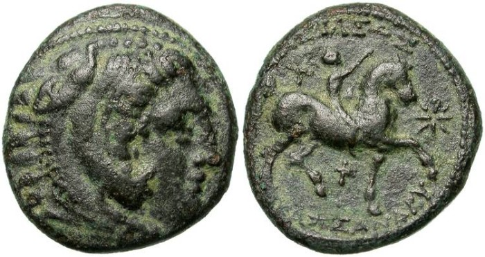 Ancient Coins - KASSANDER INTERESTING MACEDONIAN EMISSION. NICE PATINA.