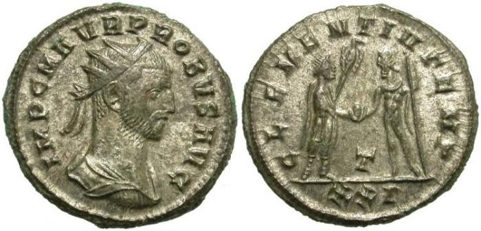 Ancient Coins - PROBUS. AE ANTONINIANUS. MANY SILVERING REMAINING. SISCIA