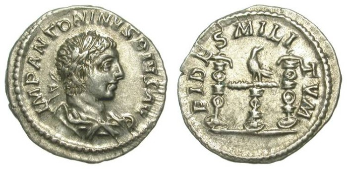 Ancient Coins - ELAGABAL. DENAR. ROME ?. LUSTROUS EF. EXCEPTIONAL ISSUE
