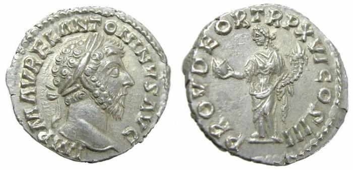 Ancient Coins - MARCUS  AURELIUS  DENARIUS.  GREAT  QUALITY.