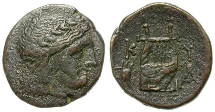 Ancient Coins - CYRENE. BRONZE ISSUE. RARE. ATTRACTIVE CRAB DEPICTION !