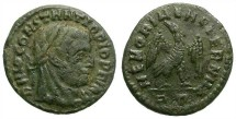Ancient Coins - DIVO CONSTANTIO. FOLLIS. EAGLE ON REV. SCARCE AND ATTRACTIVE LATE ROMAN ISSUE
