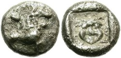 Ancient Coins - SILVER TRIOBOL. UNDETERMINED ASIA MINOR MINT.EXTREMELY RARE !
