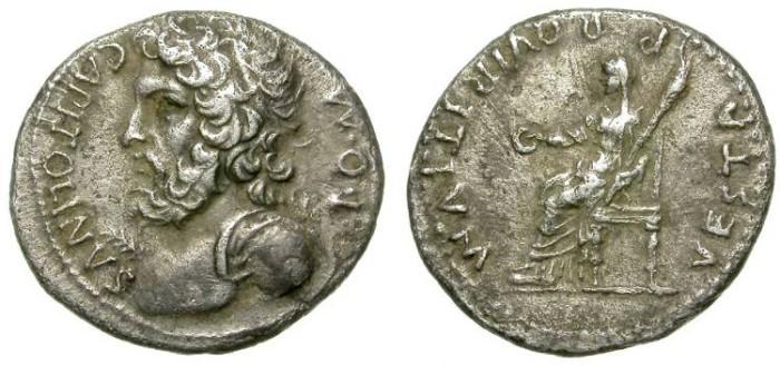 Ancient Coins - ROMAN IMPERIAL CIVIL WARS. DENAR. VINDEX ISSUE (?). IVPITER CAPITOLINVS. VERY RARE.