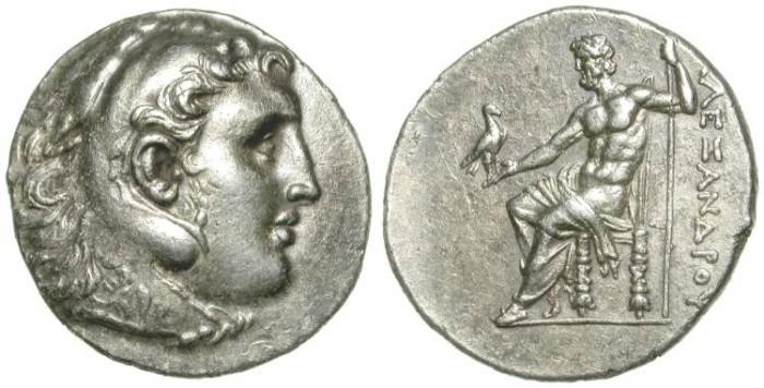 Ancient Coins - ALEXANDER THE GREAT. TETRADRACHM. IMPRESSIVE PORTRAIT