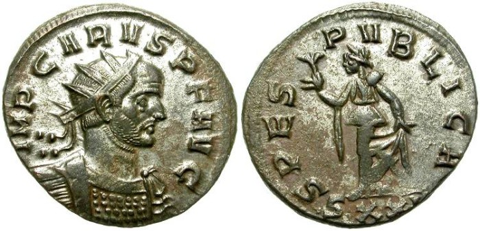 Ancient Coins - CARUS. BILLON ANTONINIANUS. NICE CONDITION. GREAT PRICE !