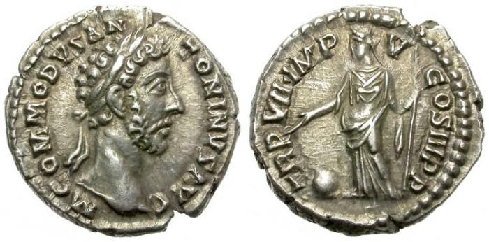 Ancient Coins - COMMODUS. (117 - 192 AD)  AR  DENARIUS. ROME MINT. NICE  PORTRAIT.