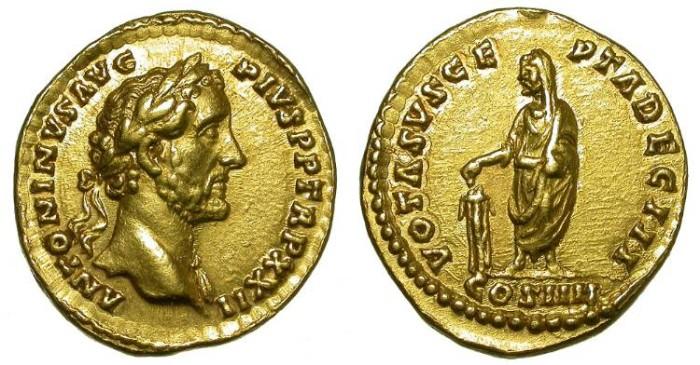 Ancient Coins - ANTONINUS PIUS. GOLD AUREUS. NICE