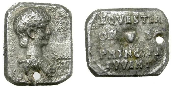 Ancient Coins - NERO. CUT DENARIUS. VERY RARE AND SUCH AN ATTRACTIVE RARITY !
