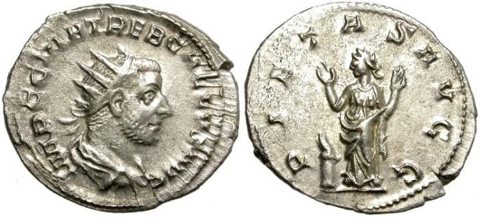 Ancient Coins - TREBONIAN GALLUS. SILVER ANTONINIANUS. GOOD CONDITION. NICE PIECE