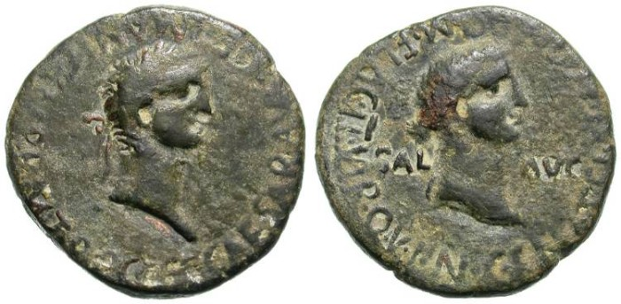 Ancient Coins - CAESONIA & CALIGULA. SCARCE & INTERESTING PROVINCIAL ISSUE