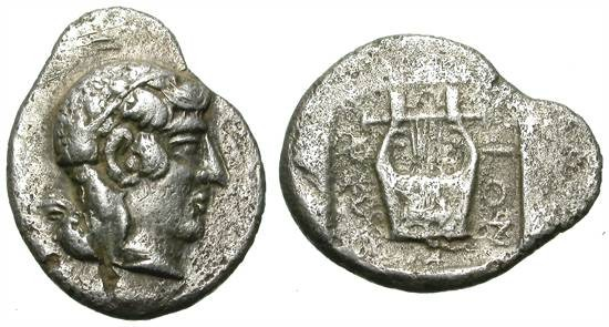 Ancient Coins - KOLOPHON. DRACHM. EARLY TYPE. RARE AND ATTRACTIVE ISSUE